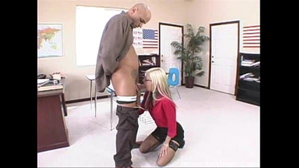 hot blonde christine alexis working student giving the dean a nice time